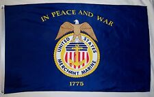 United States Merchant Marines Flag 3' X 5' Indoor Outdoor Licensed Banner