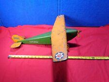 Vintage Ww2 Scout Plane Pressed Steel Airplane Plane