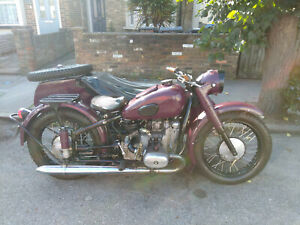 Ural 650cc 1976 with sidecar on the left. UK registered.