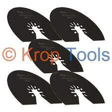5 Multi Tool Blades Black & Decker DeWalt 80mm HSS Segment Metal by KROP