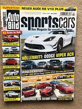 Autobild Sportscars  2/2016  Nr.2  Toyota GT86, Mazda MX5, Dodge Viper+gratis ZS