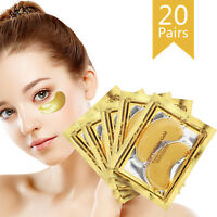 20x Gold Crystal Collagen Eye Mask Patch Wrinkle Anti Aging Dark Circle Eye Pad