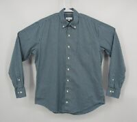 Peter Millar Mens Blue Check Button Front Long Sleeve Shirt Casual Large