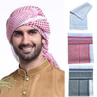 Men Muslim Hijab Caps Turban Islamic Keffiyeh Arab Scarf Headwrap Headwear Cover
