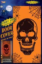 LIGHT UP SKULL HALLOWEEN DOOR COVER Horror Poster Decoration Party Prop 75435