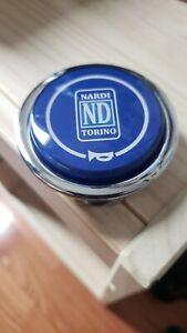 Rare blue Nardi Classic Steering Wheel Horn, for Torino Wheels Navy - JDM used