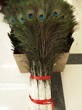 Wholesale 10-100pcs high Quality Natural peacock feathers 70-80cm/28-32inch