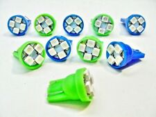 10x Ford 194 Blue Green Blinker Hi Beam Turn Indicator LED Light Bulb Lamp NOS