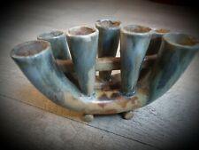 Vase/bougeoir en Gres/ Pique fleurs art nouveau 7 branches