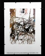 Oskar Koller - Gefallter Obstbaum Aquarelle - 1984 - Offset Poster