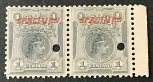 PERU Sc#177 1909 Tribal Chief Marco Capas O/P CPECIMEN Mint NH OG VF (19-32)