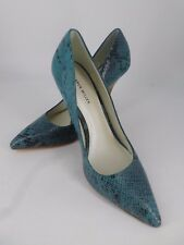 Karen Millen Turquise Snake Skin Effect Court Shoes UK 6 EU 39 Ln19 83