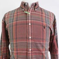 "POLO RALPH LAUREN ""BLAIRE"" LONG SLEEVE PLAID BUTTON UP SHIRT MENS SIZE L LARGE"