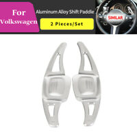 Silver Steering Wheel Shift paddle Shift Extension For VW Volkswagen CC Teramont