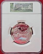 2011 25C Chickasaw NP 5 ounce Silver America the Beautiful Quarter NGC MS-69 DPL