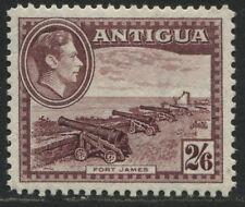 Antigua 1938-44 KGVI 2/6d deep claret mint o.g.