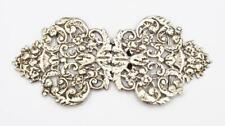 More details for fine victorian sterling silver nurses buckle london 1887