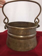 Antique Dovetail Copper Pot Hand Forged Iron Swinging Handle Flair Rolled Edge