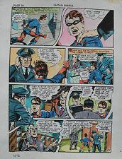 JACK KIRBY Joe Simon CAPTAIN AMERICA #10 pg 16 HAND COLORED ART Theakston 1989 Comic Art
