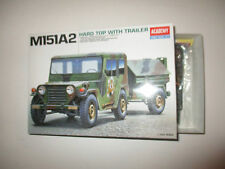 M151A2 HARD TOP WITH TRAILER  KIT MONTAGGIO ACADEMY SCALA 1:35