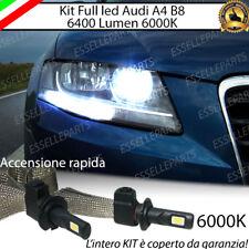 KIT LED H7 AUDI A4 B8 6000K XENON NO AVARIA ABBAGLIANTI 6400 LUMEN NO ERROR