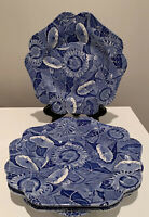 """Set Of 2 The Spode Blue Room Collection Sunflower 9 5/8"""" Luncheon Plate England"""