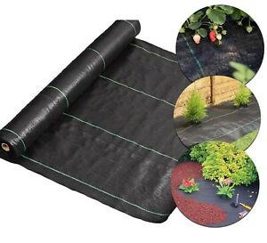 Heavy Duty Weed Control Fabric Membrane Mat Cover Sheet Garden Landscape 100GSM