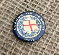 WW1 LEAGUE OF HONOUR 1914 SWEETHEART PIN BADGE BROOCH