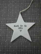 East of India Porcelain Hanging Star Decoration Reach for The Stars Home Gift
