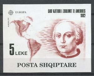 ALBANIA 1992 - EUROPA UNION (CEPT) - DISCOVERY OF AMERICA by COLUMBUS MNH  Hk782