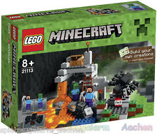 LEGO 21113 Minecraft Die Höhle mit Steve Zombie Spinne The Cave La grotte BINSB