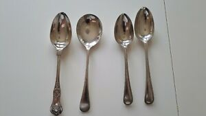 Vintage Silver Plated  Serving Spoons x 4