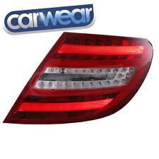 MERCEDES BENZ W204 C-CLASS SEDAN COUPE 08-10 CLEAR RED LED TAIL LIGHT C63 AMG