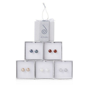 Honora Cultured Pearl     Set of 5    9.0mm Boxed Post Earrings with Happy Backs