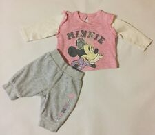 Baby Girls First Size Disney George Minnie Mouse Top & Bottoms Outfit Set