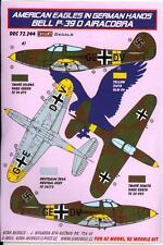 KORA Decals 1/72 BELL P-39D AIRACOBRA American Aircraft in German Hands