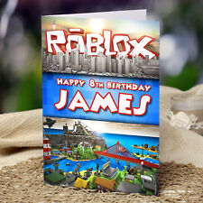 EXTRA LARGE Roblox **Personalised A4 Birthday Card** Brother Nephew Dad Grandson