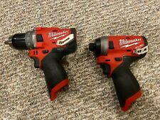 """New ListingMilwaukee M12 Fuel 1/2"""" Hammer Drill 2504-20 and 2553-20 12-Volt Impact Driver"""