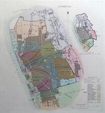 LIVERPOOL, ENGLAND, UK, Street Plan, Dawson Original antique map 1832