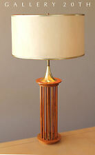 MID CENTURY DANISH MODERN TEAK DESK LAMP! 1950's Eames Vtg Retro Swedish Home