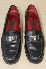 Salvatore Ferragamo Size 7 1/2 B Made in Italy Heeled Loafer Loafers Shoes 7.5