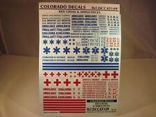 DECALS 1/43 CROIX ROUGE ET AMBULANCES - COLORADO  43109