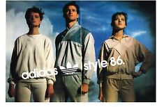 PUBLICITE ADVERTISING   1986   ADIDAS   vetements sport le style 86 (2 pages)