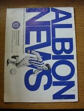 16/08/1969 West Bromwich Albion v Arsenal  (Crease, Fold, Nicks/Rips, Small Pen