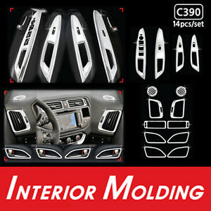 Chrome Interior Kit Molding Trim 14pcs For 2012 2014 Kia Rio : All New Pride
