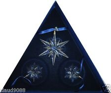 "SWAROVSKI   ""CHRISTMAS STARS 2005""   SET OF 3  842602  MINT IN BOX"