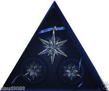 "SWAROVSKI   ""CHRISTMAS STARS 2005""   SET OF 3  842602  MINT IN BOX"
