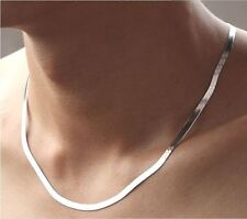 New Fashion Women Men 18K White Gold Plated Father's Day Necklace Chain
