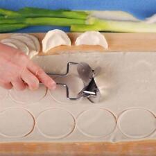 Circle Dumpling Wrapper Dough Roller Useful Kitchen Tool Cutter Stainless Steel