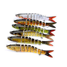 6pcs/Lot Branded Fishing Lure 8 Sections Swimbait Bait Tackle #6 Hook 19g/13.3cm